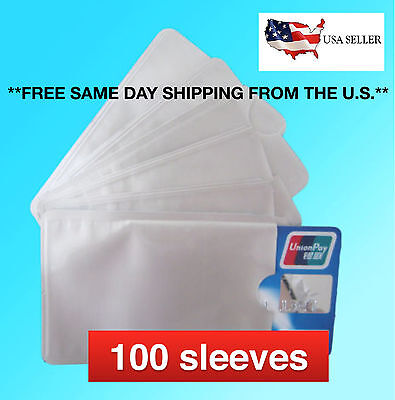 100 RFID Blocking Sleeves Protectors Theft Credit Card Holder Protection Lot