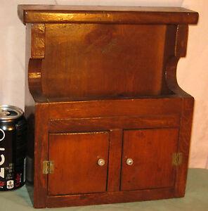 Antique Salesman Sample Hooded Dry Sink Childs Cupboard