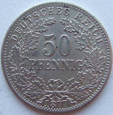 TOP! 50 Pf 1877 D in BANKFRISCH / STEMPELGLANZ SELTEN !!!