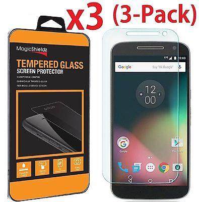 3-PACK Tempered Glass Screen Protector Film for Motorola Moto G4 (2016) XT1625
