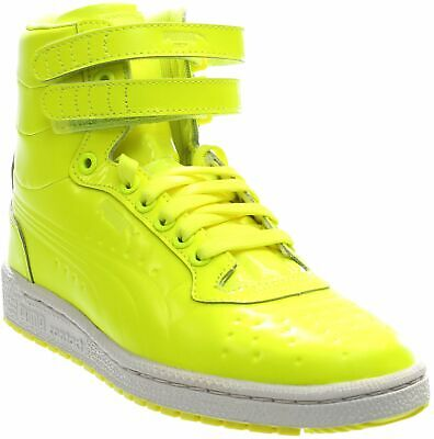 Patent Men Sneakers - Puma Sky II High Patent Emboss Sneakers - Yellow - Mens