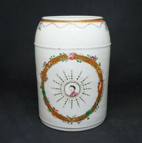 ANTIQUE CHINESE LARGE EXPORT MUG, 18TH C