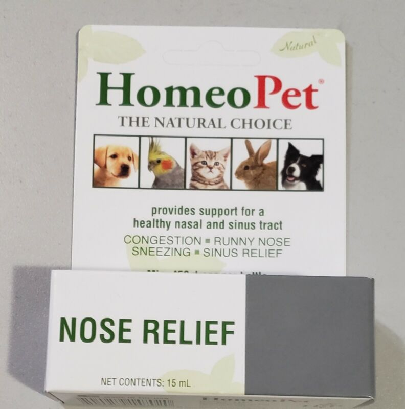 HomeoPet Nose Relief Drops Dogs Cats Birds Rabbits Hamsters 15 ml Acting Liquid