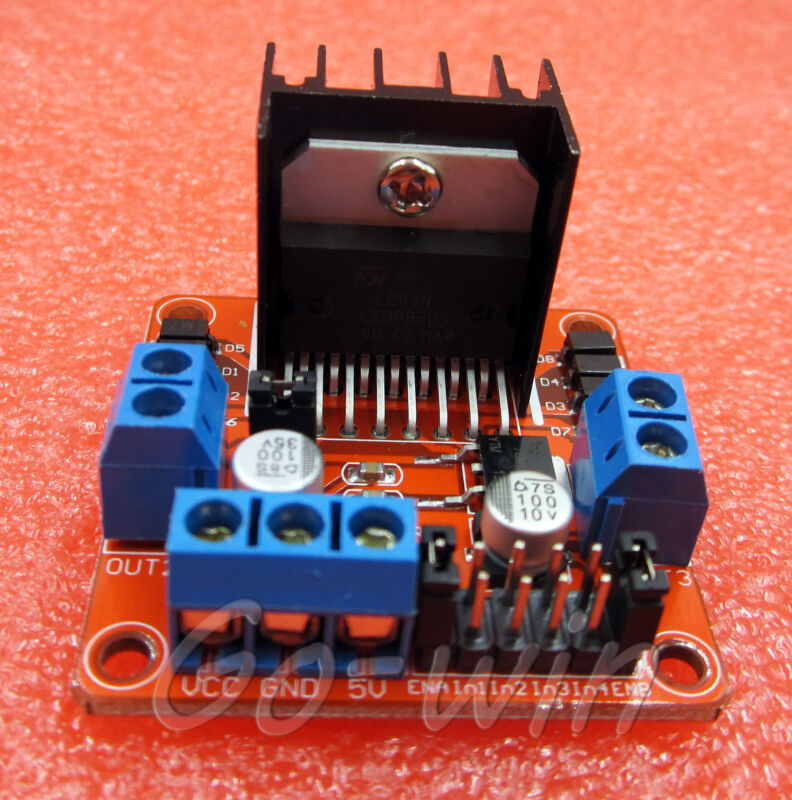 1PCS L298N Dual Stepper Motor Driver Controller Board Module RED M12