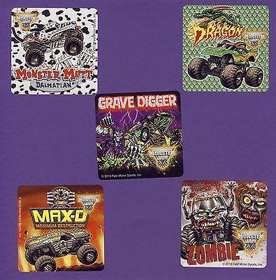 15 Monster Jam Trucks Fan Favorites - Large Stickers - Monster Mutt,Grave Digger](Grave Digger Monster Truck Party Supplies)