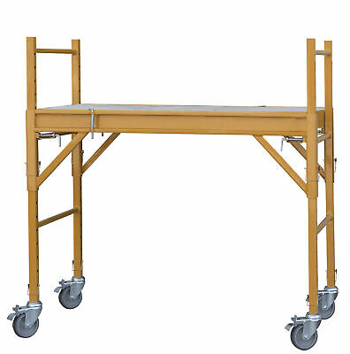 Pro-series Gssim 4-foot Mini Multipurpose Bakers Scaffolding With Casters
