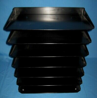 Black Industrial Metal Legal Paper File Sorter Desk Organizer 7 Trays