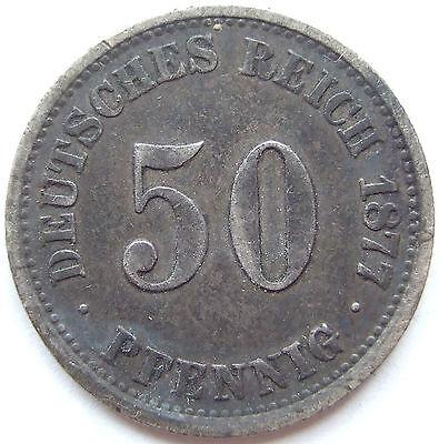 TOP! 50 Pf 1877 J in SEHR SCHÖN SEHR SELTEN !!!