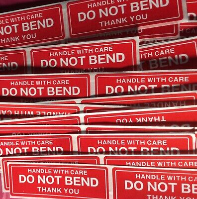 Do Not Bend Handle With Care Stickers 1 X 3 Pack Of 40 Not On Roll Fast Ship