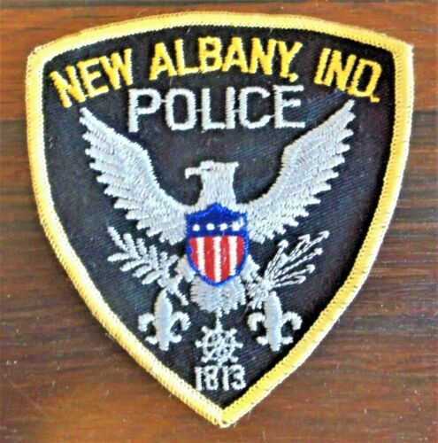 GEMSCO NOS Vintage Patch - POLICE NEW ALBANY INDIANA - 40+ Years Old
