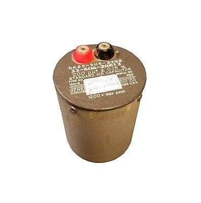 General Radio 1401-b 200uuf 0.15 Standard Air Capacitor