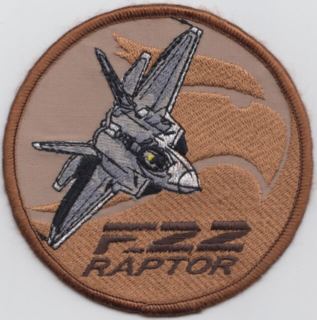 F-22 Stealth By Design Raptor Driver US Air Force Embroidered Badge Patch *