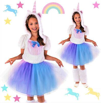 Einhorn Kostüm Kinder Faschingskostüm Mädchen rosa weiß blau Fasching Kind