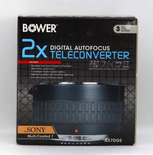 Bower 2X Teleconverter Digital Autofocus 7 Element SX7DGS For Sony Lens