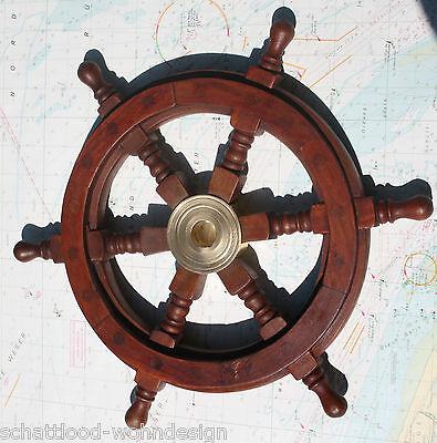 Deko Schiffssteuerrad Steuerrad Schiff Boot maritime Dekoration Wandhänger Holz