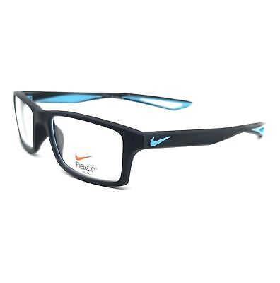NIKE Eyeglasses 4281 426 Obsidian-Tide Pool Blue Rectangle Men 52x16x140