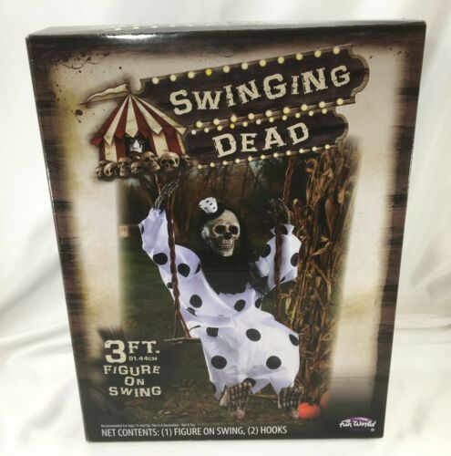 Swinging Dead Clown Halloween Decoration, 3 Ft. (36 in.) Prop Length, Fun World
