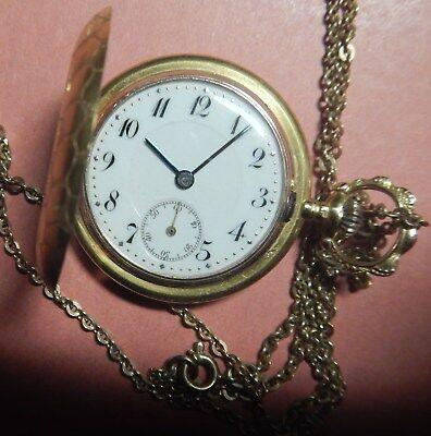 Alte kleine Taschenuhr  585 Gold