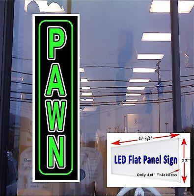 Pawn Led Illuminated Flat Panel Window Sign 48x12 Fast Free Shipping