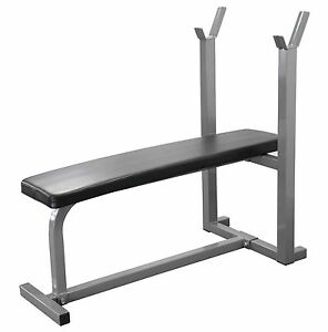 Weight Bench Gym Fitness Bench Exercise Training Bench Heavy Duty Flat Bench Ebay