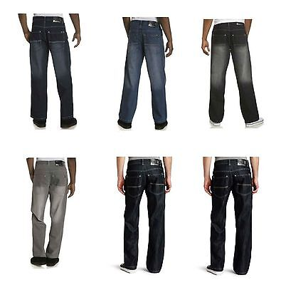 SOUTHPOLE 4180-1043 Mens Relaxed Fit Jeans Light Black Rinse Dark Sand Blue NWT