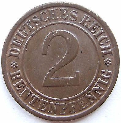 TOP! 2 RENTENPFENNIG 1923 J in VORZÜGLICH / STEMPELGLANZ SELTEN !!!