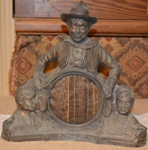 Will Rogers Clock Base~Smelter~Metal~Detailed~Western~Cowboy