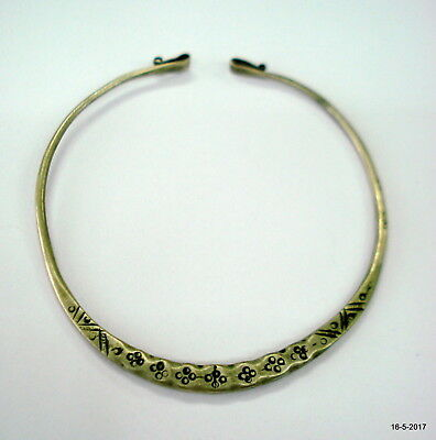 vintage antique ethnic tribal old silver neck ring necklace choker necklace Old Silver Neck Ring Necklace
