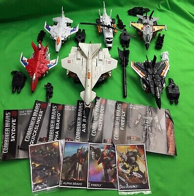 Transformers Combiner Wars AERIALBOTS Superion ALL SIX (6) BOTS 100% COMPLETE