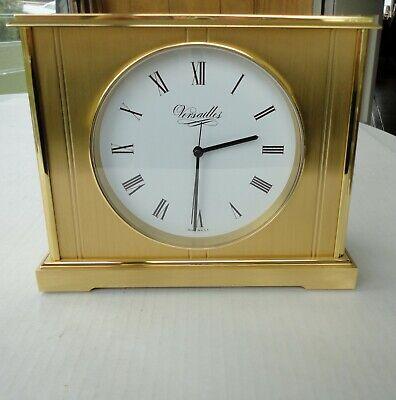 Vtg Solid Brass Classic Art Nouveau Versailles USA Roman Numeral Mantel Clock