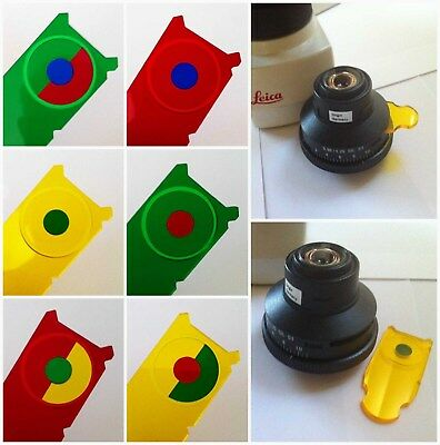 Leica Compatible Microscope Rheinberg Illumination Filter Set