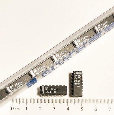 25 X Dm7416n National Semiconductors 14 Pin Dip Hex Inverter Buffer Sn7416n 7416