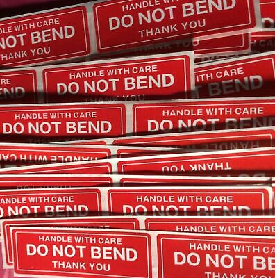 50 Do Not Bend Handle With Care Stickers 1 X 3 Pack Of 50 - Fast Ship