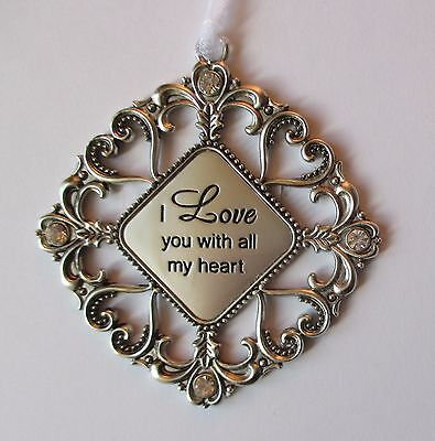 K I Love You With All My Heart Loving Thoughts Ornament Crystal Ganz