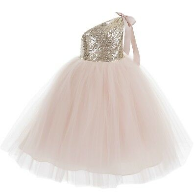 One-Shoulder Sequins Tutu Flower Girl Dresses Pageant Dress Tutu Dress - Tu Tu Dresses