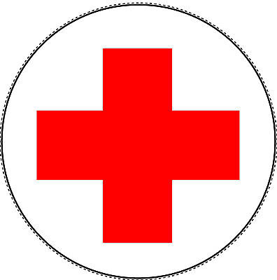 ROTES KREUZ Aufkleber Verbandskasten Medizinschrank DRK Erste Hilfe Ø 5-20cm - Rote Medizin