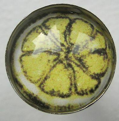 Stone Roses - Lemon - pair of gunmetal cufflinks