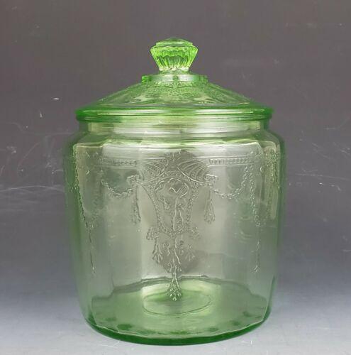 Vintage Anchor Hocking Depression Glass Ballerina Cookie Jar