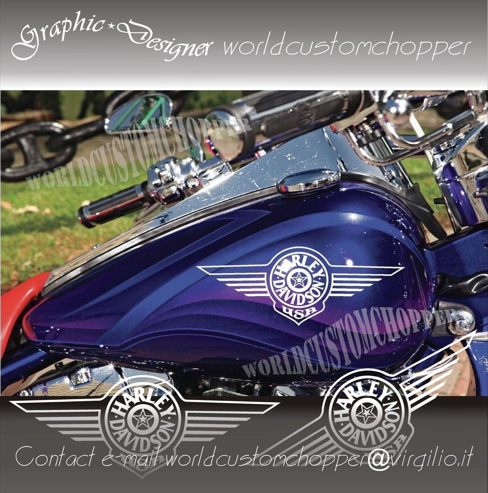 Decal Replica originali 1995 Softail Springer Adesivi serbatoio Harley-Davidson