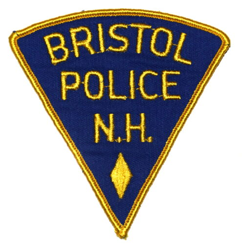 BRISTOL NEW HAMPSHIRE NH Police Sheriff Patch PIE SHAPE VINTAGE OLD MESH ~