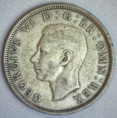 1938 Great Britain Silver 1/2 Crown Coin Circulated You Grade British George V