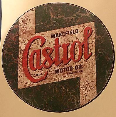 Castrol Retro Rostig Weiches Vinyl Aufkleber Auto Wandkunst Rat (Rostige Autos)