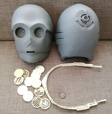 Vintage Star Wars C3PO Threepio Head / Helmet Prop Kit Loft Find