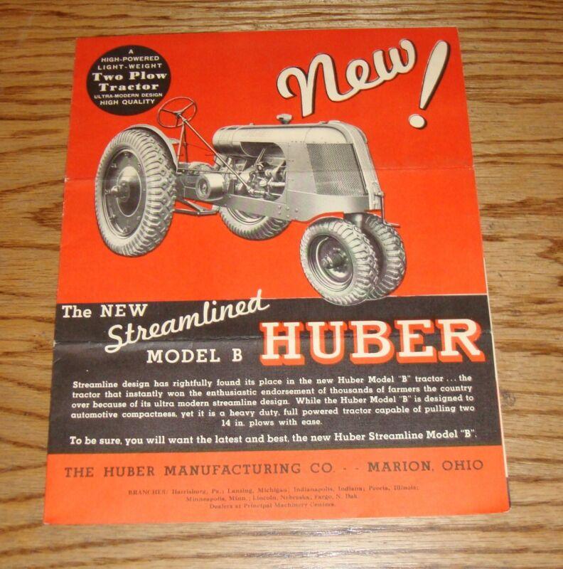 Original 1935 Huber Tractor Model B Foldout Sales Brochure 35