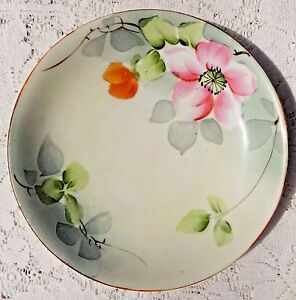 VINTAGE-MID-20TH-CENTURY-COLORFUL-HAND-PAINTED-CERAMIC-DISH-MADE-IN-JAPAN
