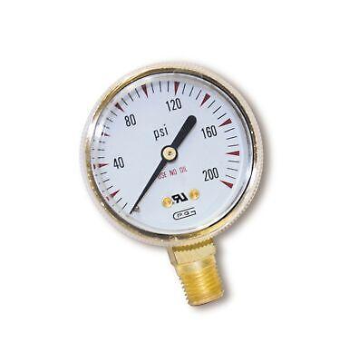 Us Forge 08034 Victor Style Low Pressure Gauge For Oxygen Regulators 0-200 P....