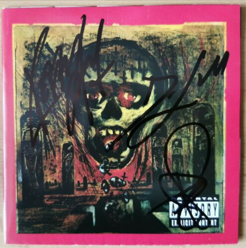 Slayer Seasons In The Abyss signed cd cover