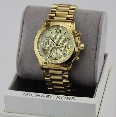 NEW AUTHENTIC MICHAEL KORS COOPER GOLD CHRONOGRAPH WOMEN'S MK6274 WATCH