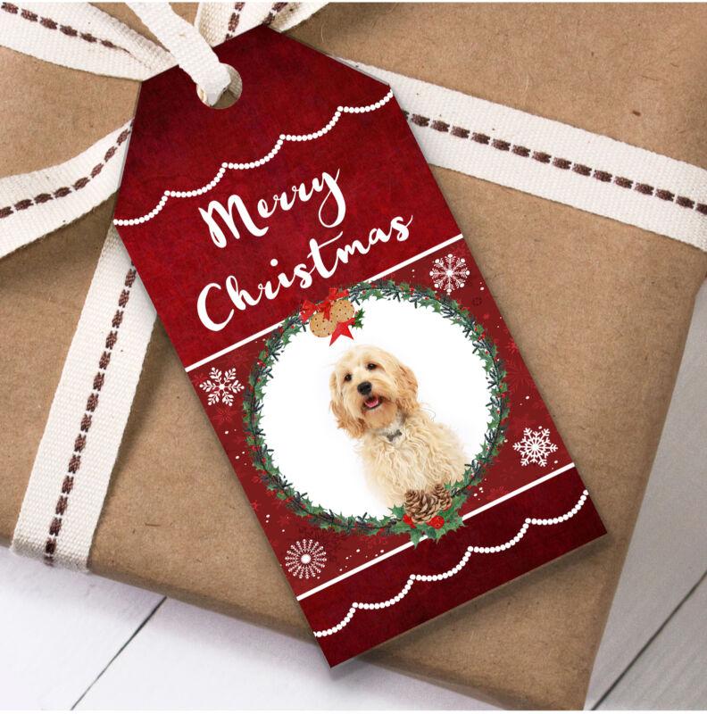 Cockapoo Dog Christmas Gift Tags (Present Favor Labels)