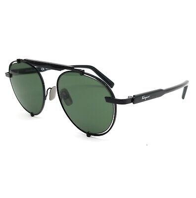 Salvatore Ferragamo Sunglasses SF197S 001 Black Oval Men 52x17x140